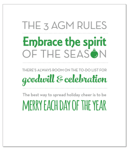 The 3 AGM Rules: Embrace, Goodwill, Be Merry